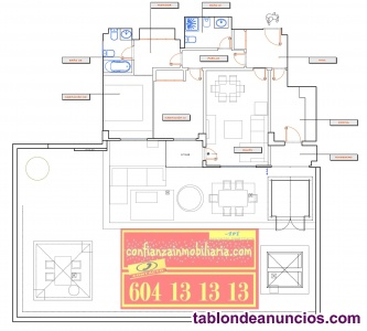 Bajo con jardín 101m2- 2 hab y 2 baños-jardín 200 m2 -viñas viejas-boadilla