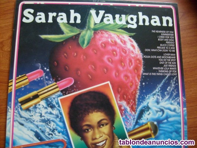 Sarah vaughan italy 1986 the entertainers vinilo