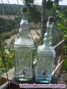 Botellas decoradas de vidrio