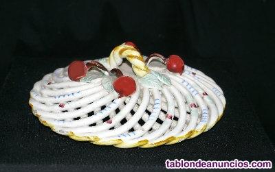 Joyero de porcelana trenzada