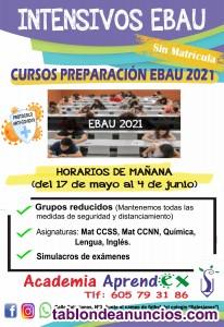 Cursos de preparación para EBAU 2021