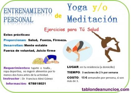 Yoga y ejercicios para la salud