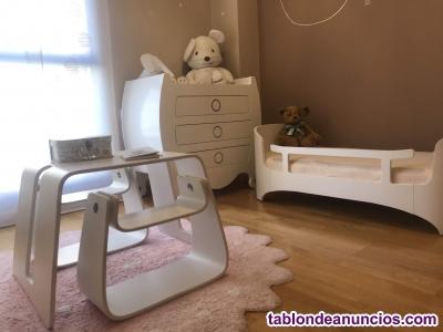 Cama y mesa leander + cómoda suommo