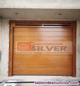 Fabricación e instalación de puertas seccionales levadizas especialistas silver