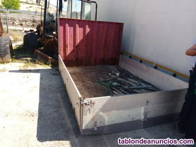 Caja para camion de de 2,80 x 1,95 m con laterales de aluminio abatibles