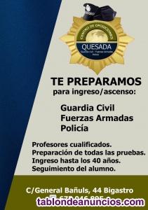 Academia. Preparamos iposiciones-Guardia Civil,Ejército,policía nacional y local