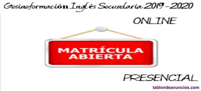PREPARADOR OPOSICIONES INGLES SECUNDARIA 2019/2020