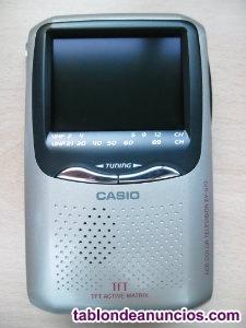 Tv portatil casio ev-570p lcd analogica