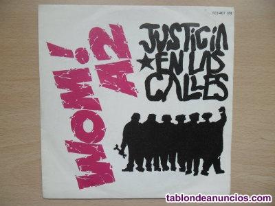 Wom! a2 vinilo single 1986 justicia