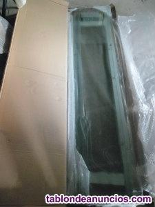 Mampara de cristal angular cuadrada nueva
