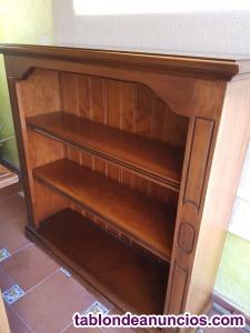 Conjunto muebles despacho (mesa, librería y mueble auxiliar )