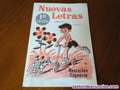 Nuevas letras 1ª cartilla escolar wenceslao ezquerra rivadeneyra s.a. Madrid - d