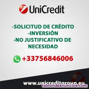 Servicios de crédito para todos.