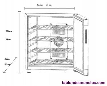 Vinoteca Amsonic electrónico para 16 botellas