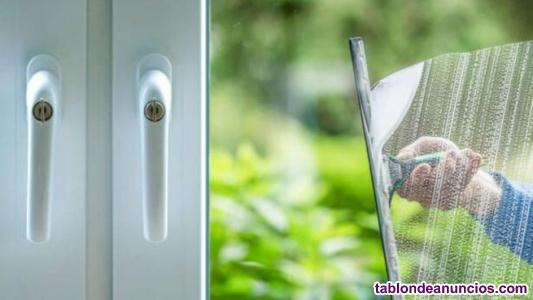 Limpiamos tus cristales, ventanas, ventanales, mostradores, vitrinas