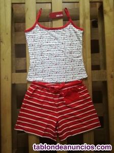 Pijama de verano para chica a rayas marca 2u