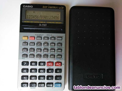 Calculadora casio fx-p401 scientific calculator 16 digit dot matrix display cien