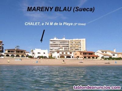 Chalet con encanto en la preciosa playa del mareny blau