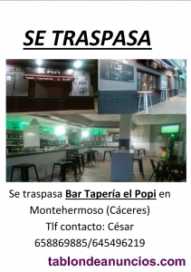 Traspaso de bar
