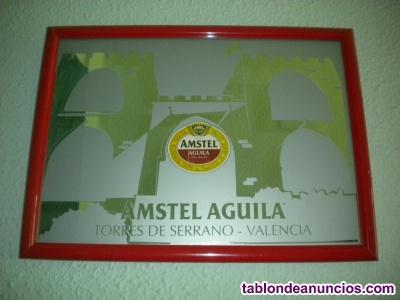 Cuadro espejo cerveza AMSTEL (Torres de Serrano)