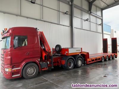 Cabeza tractora scania r500 con grua fassi 175