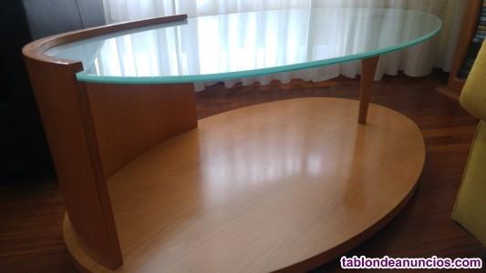 Conjunto salon mesa comedor, auxiliar y mesa centro