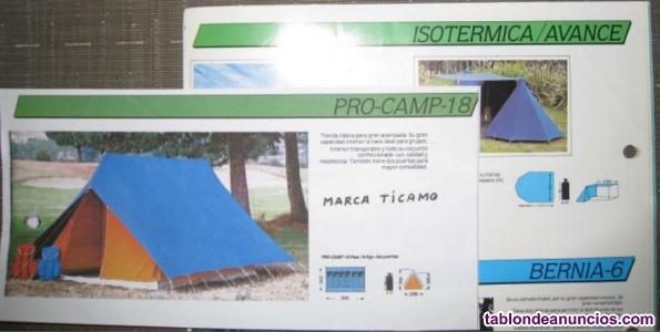 Se vende tienda y material de acampada