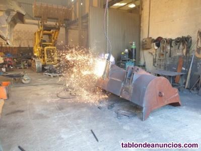 Reparación de cazos para maquinaria