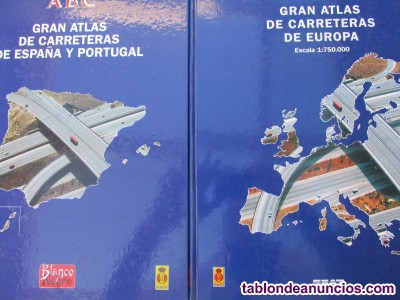 Gran atlas de carreteras España, Portugal, Europa.