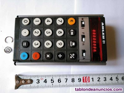Antigua calculadora adler 81 made in england años 70 parecida a anita 811 y triu