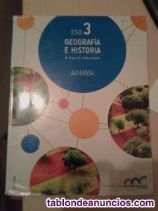 Libro de geografía e historia tercero la eso