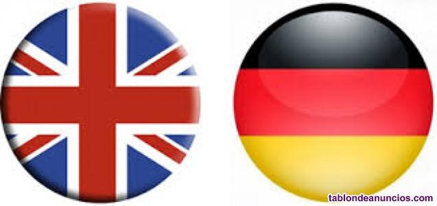 Clases de inglés y alemán ONLINE