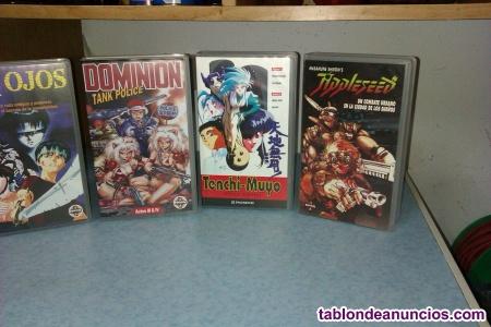 52 películas  anime /manga VHS perfecto estado