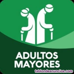 Ancianos cuidador de ancianos