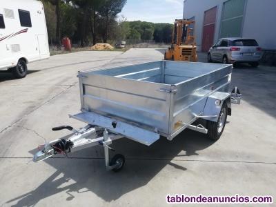 Remolque para motos y carga galvanizado