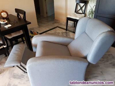Vendo sillón abatible color gris