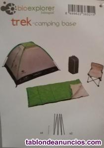 Tienda campaña trek camping base bioexplorer.