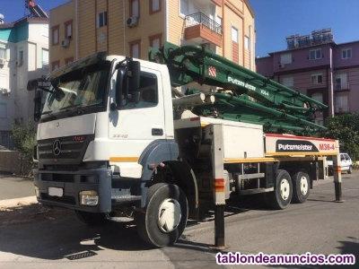 Bomba putzmeister 38m sob camião mercedes axor 3340