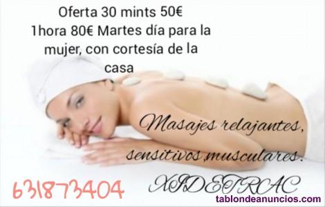 Oferta masaje y exfoliante corporal y facial