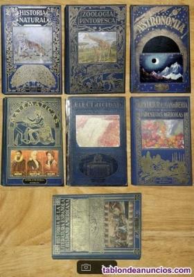 Colección 7 volúmenes diversas materias para coleccionistas o curiosos.