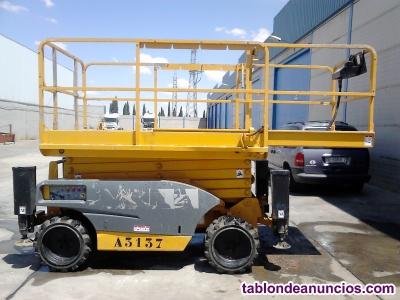 Plataforma elevadora de tijera diesel Haulotte Compact 12 DX 4x4