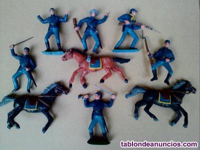 Figura soldados de la unión nordista serie federales jecsan figura de plástico