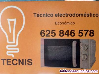 Reparación electrodomésticos tecnis