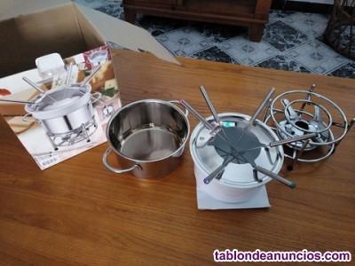 Juego de fondue para seis comensales