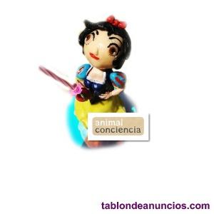 Figura y Vela para pastel de cumpleaños blancanieves princesa Disney  Artesana