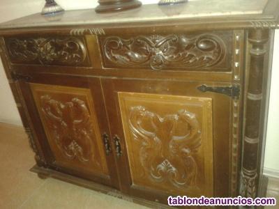Mueble entrada de dos puertas castellano