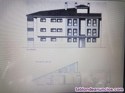 Solar con proyecto 6 apartamentos por autocaravana