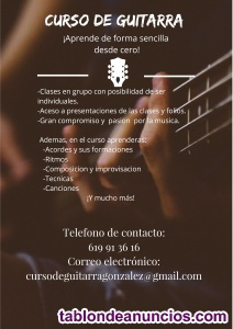 Curso de guitarra acustica, electrica