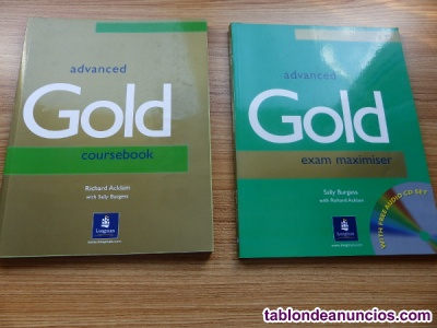 Inglés, advanced: coursebook, exam maximiser y cd1-2