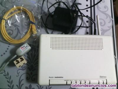 Router telefónica y orange